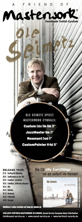 Masterwork Anzeige RELEASE TOUR 2014 in STICKS und DRUMS AND PERCUSSION NOV 2014